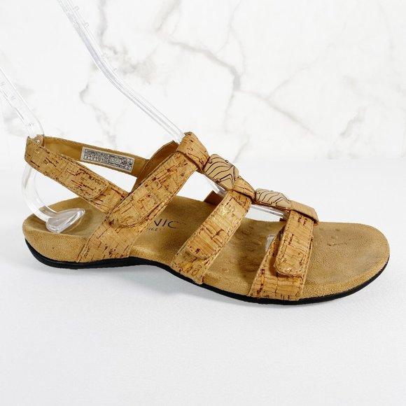 Vionic Amber Cork Embellished Adjustable Sandal